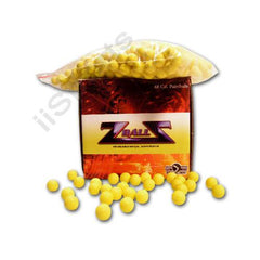 .68 cal YELLOW Rubber Paintballs 500ct zball