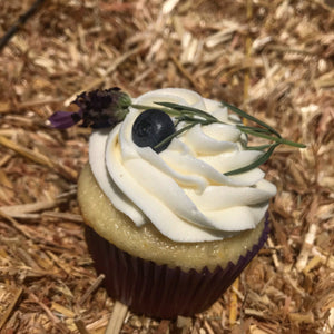 Lemon Lavender Blueberry Cheesecake Cupcakes