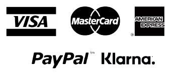 VISA MasterCard AMEX PayPal Klarna