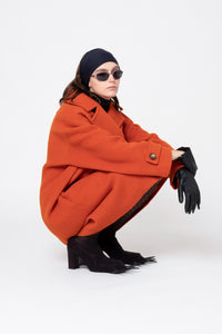 Wool Coat, Orange