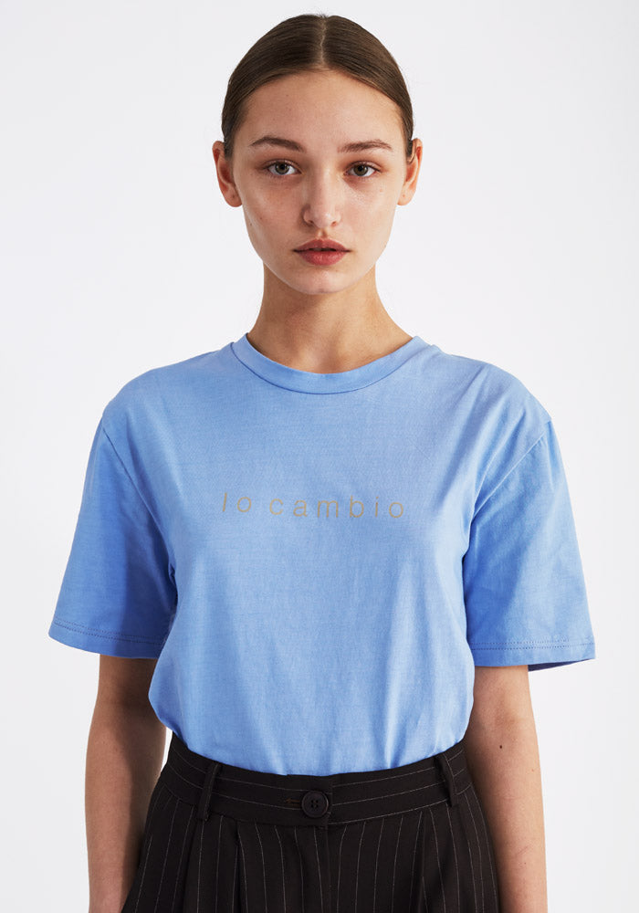 T-shirt, Io cambio light blue