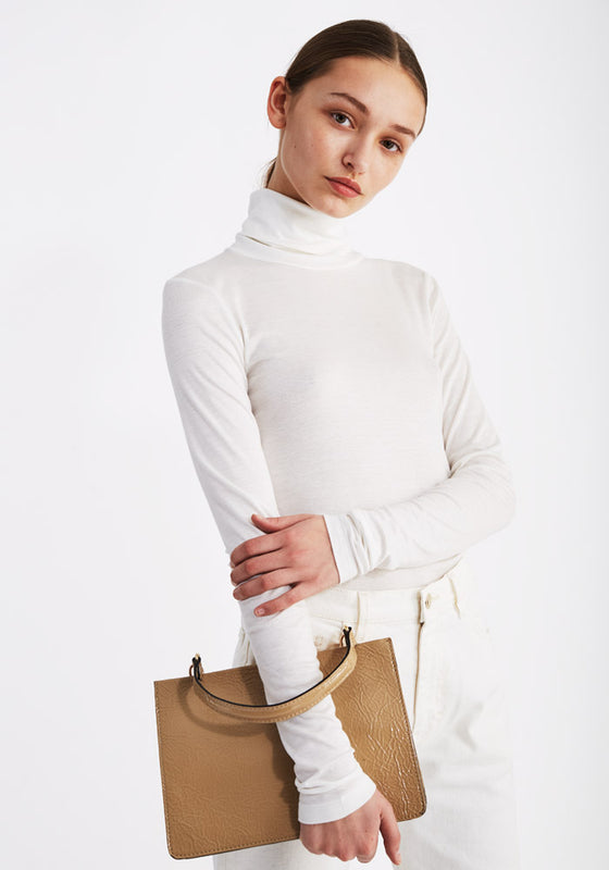 Thin Rib Polo in Off-White (1688682889285)