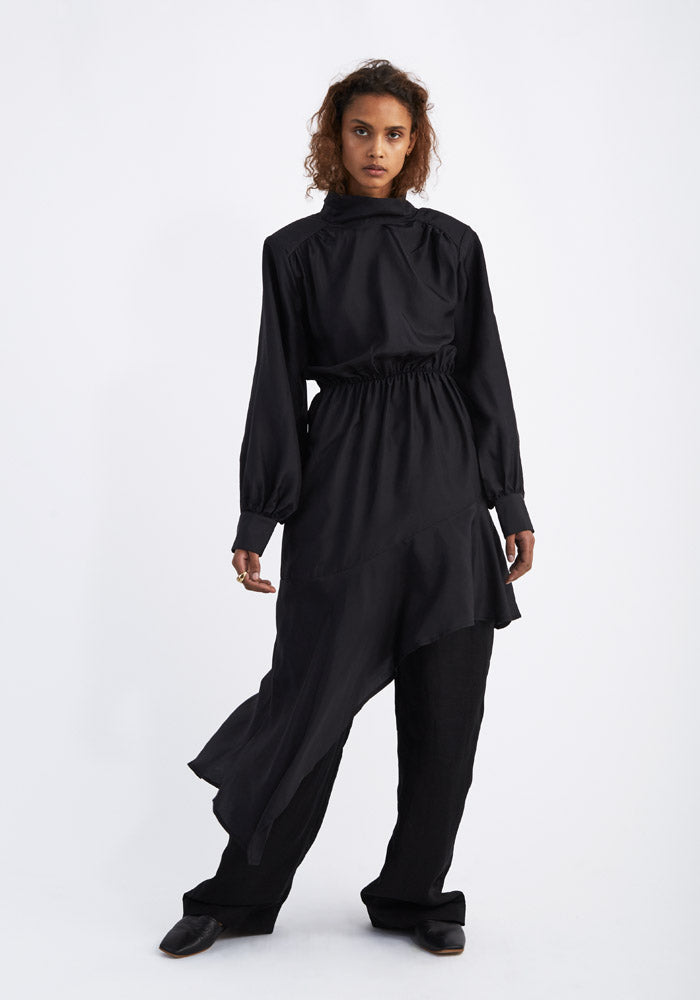 Black silk dress - AVAVAV-Firenze