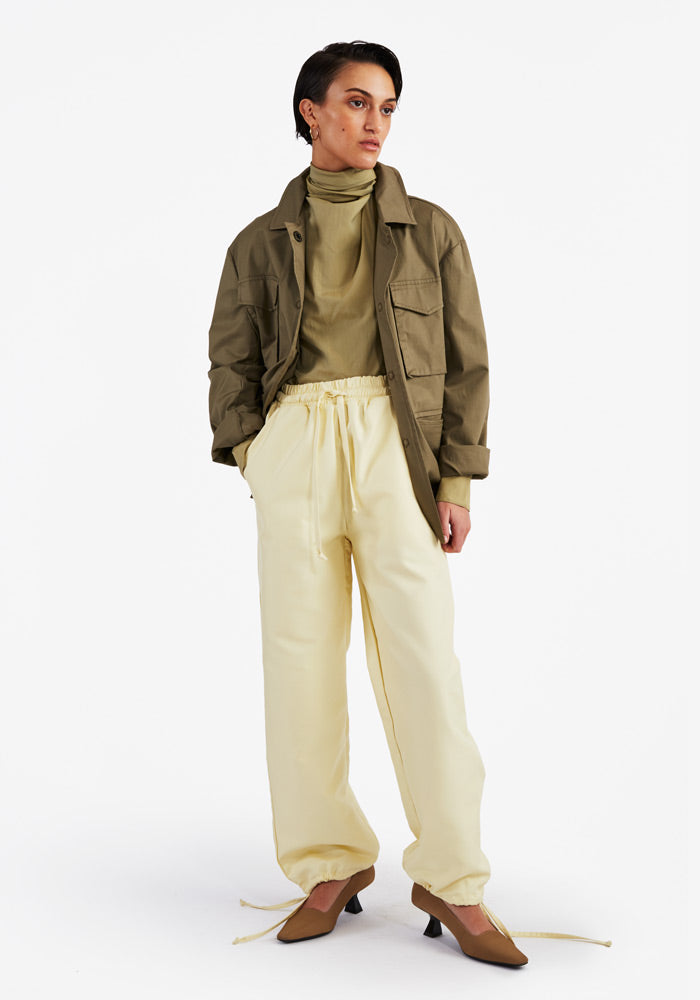 Drawstring Pants Light Yellow