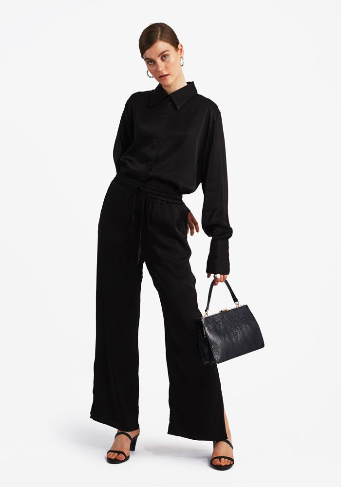 Slit Pants, Black