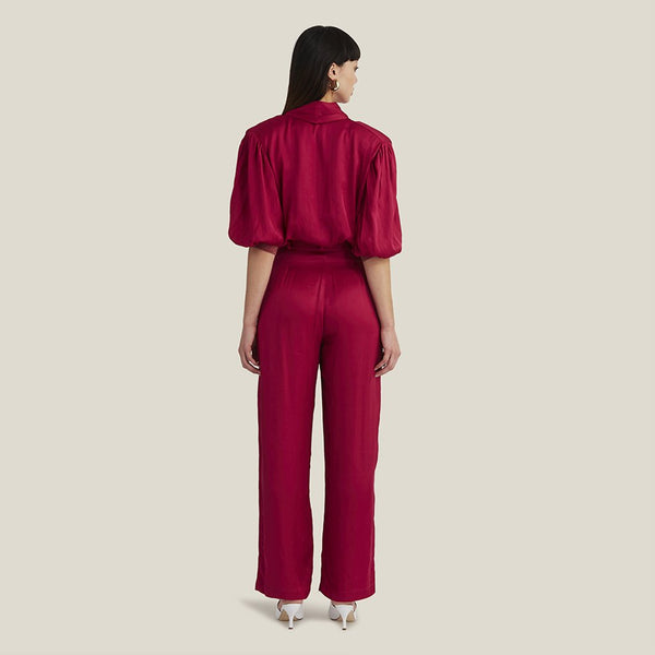 Pleated Pants, Fuchsia (4445540778068)