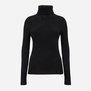 Cashmere Turtleneck in Black (1688542675013)