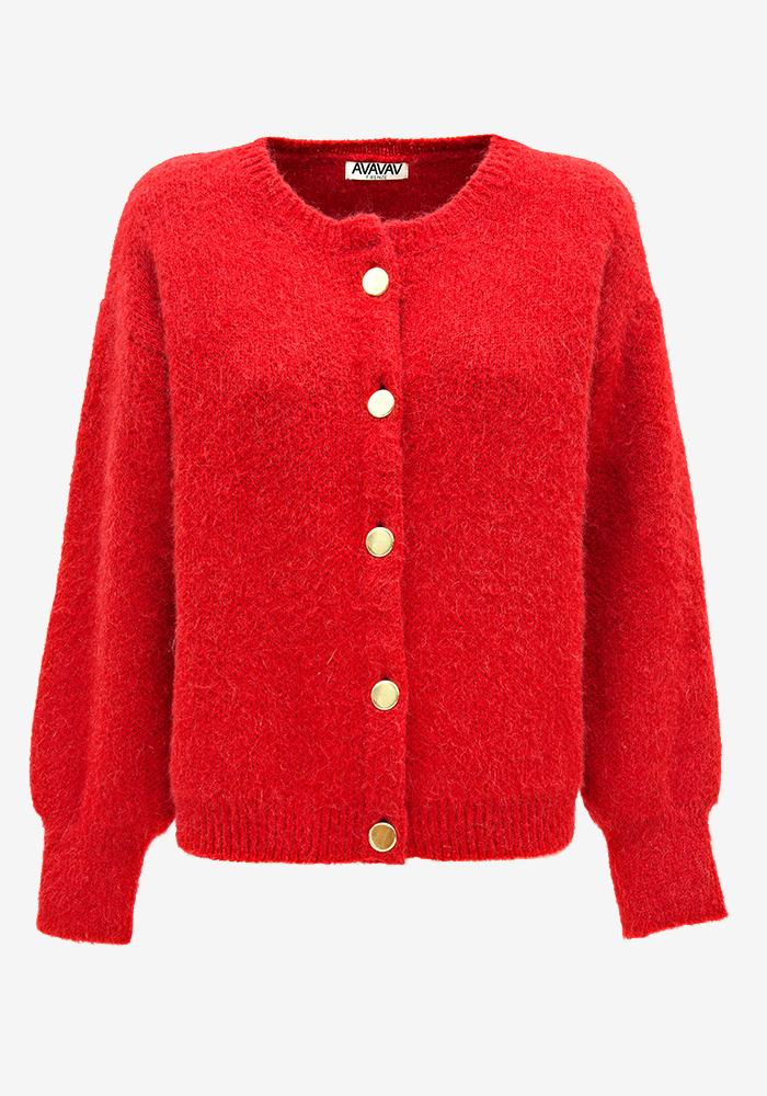 Knitted Cardigan Red - AVAVAV-Firenze (1688603557957)