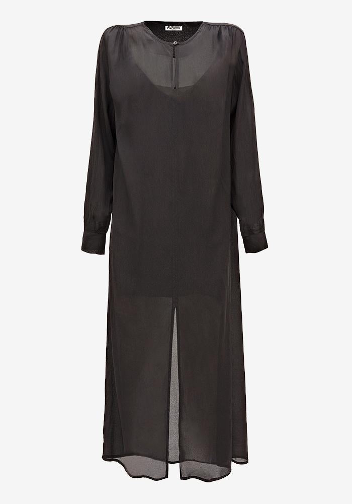 sheer dress black - AVAVAV-Firenze
