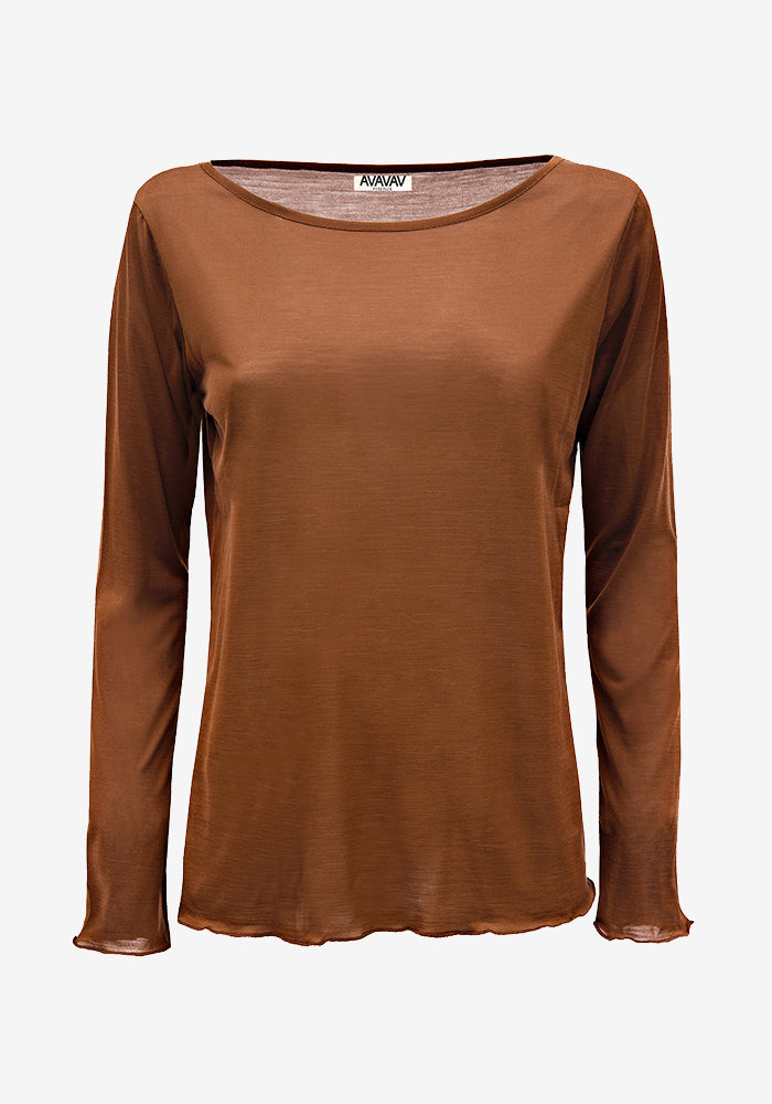 Silk Jersey Tee Brown