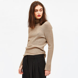 Cashmere Turtleneck in Taupe