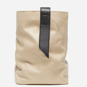 Leather Tote Bag in taupe