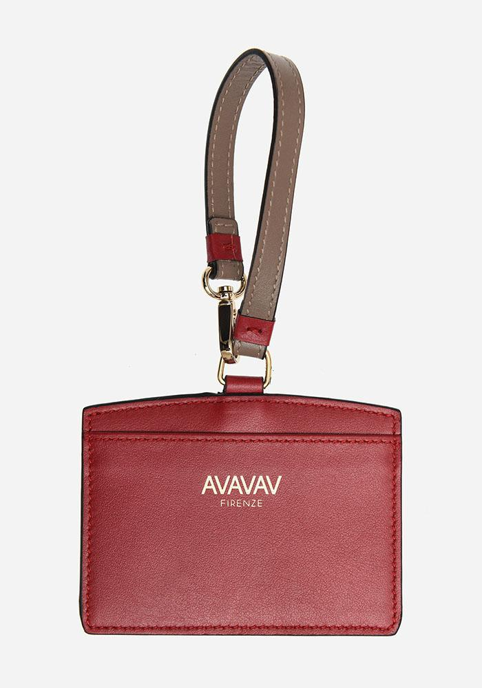 Luggage Tag/ Card Holder in Red - AVAVAV-Firenze