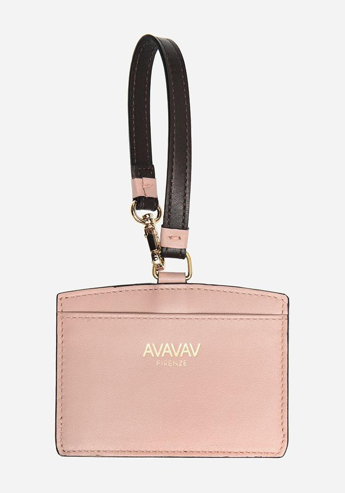 Luggage Tag/ Card Holder in Light Pink - AVAVAV-Firenze