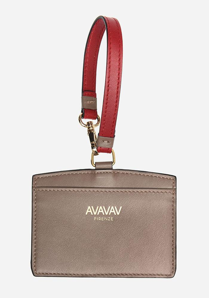 Luggage Tag/ Card Holder in Taupe - AVAVAV-Firenze