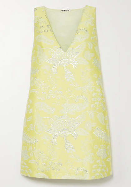 V-Neck Dress, Jacquard