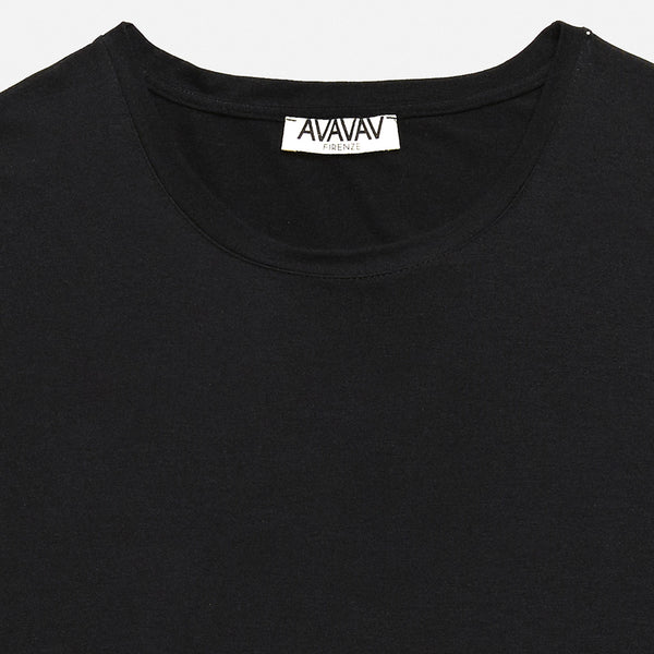Round Neck Tee in Black (1688567775301)