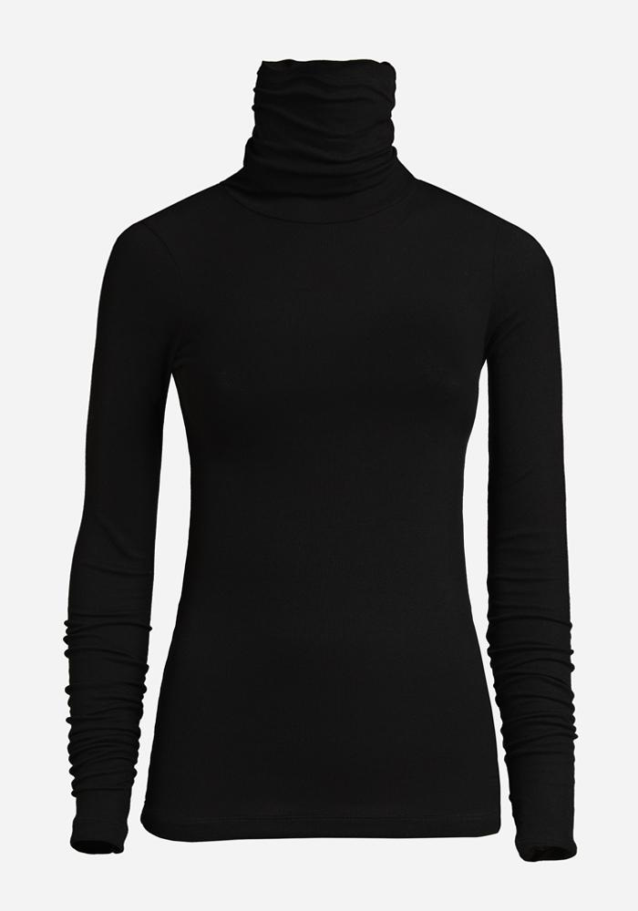 Thin Rib Polo in Black - AVAVAV-Firenze (1688682758213)