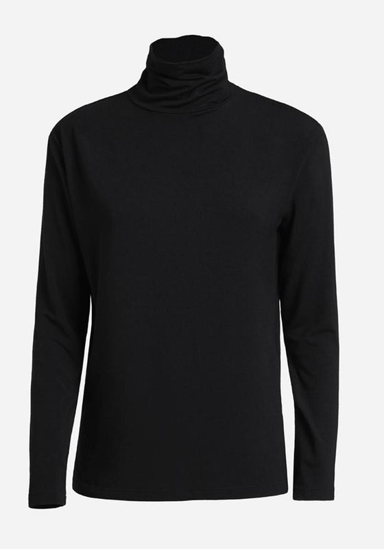 Long Sleeve Polo in Black - AVAVAV-Firenze