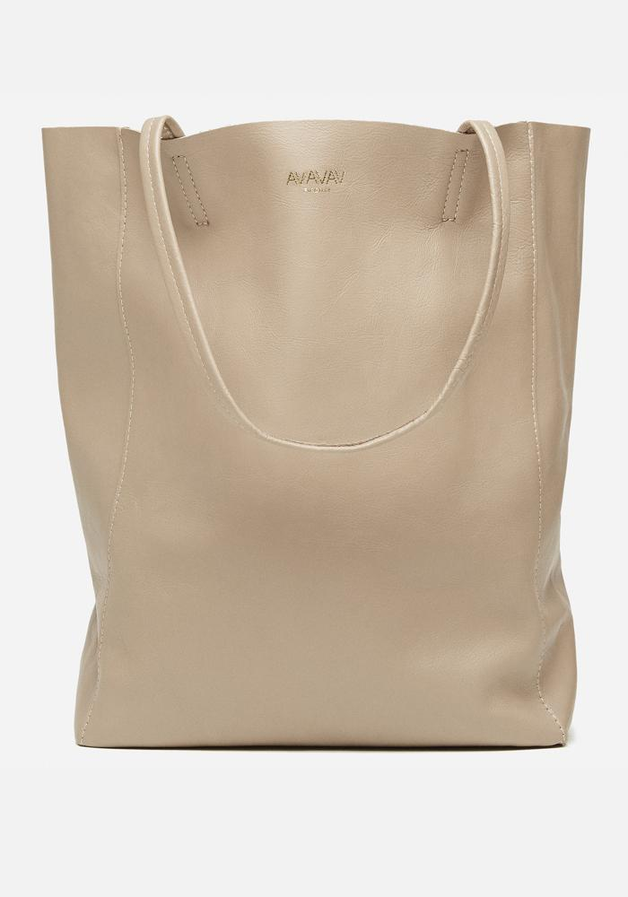 Medium Tote Leather Bag in taupe - AVAVAV-Firenze