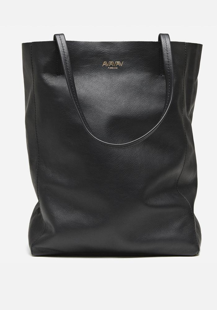 Medium Tote Leather Bag in Black - AVAVAV-Firenze