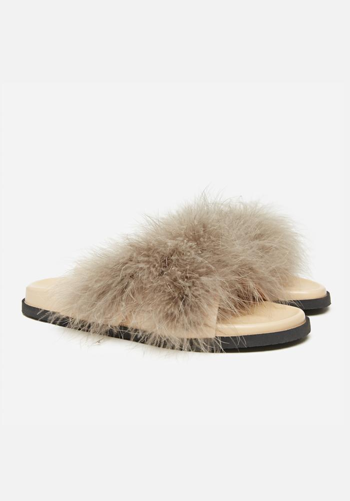 Feather Sandals in Taupe - AVAVAV-Firenze (1688580915269)