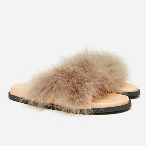 Feather Sandals in Taupe (1688580915269)