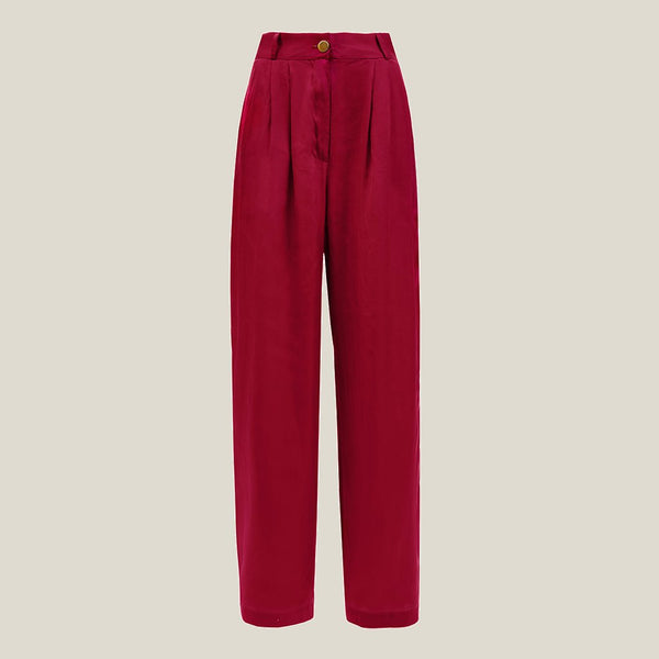 Pleated Pants, Fuchsia