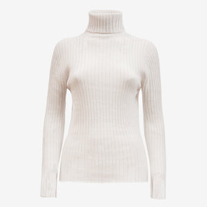 Cashmere Turtleneck in Off white (2006848667717)
