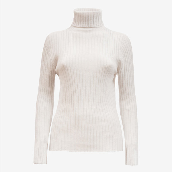 Cashmere Turtleneck in Off white