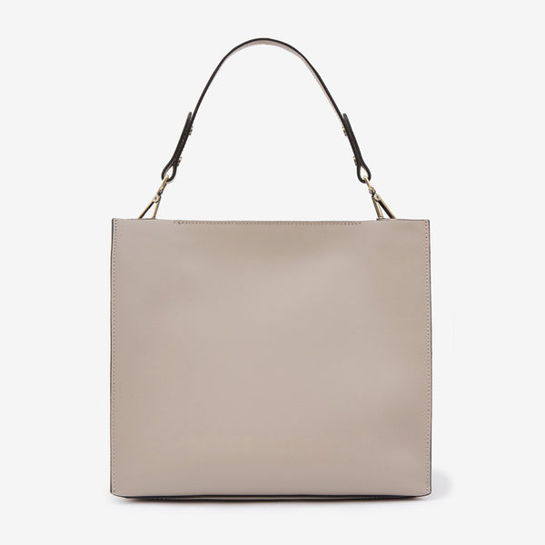 Leather Suede Bag Taupe