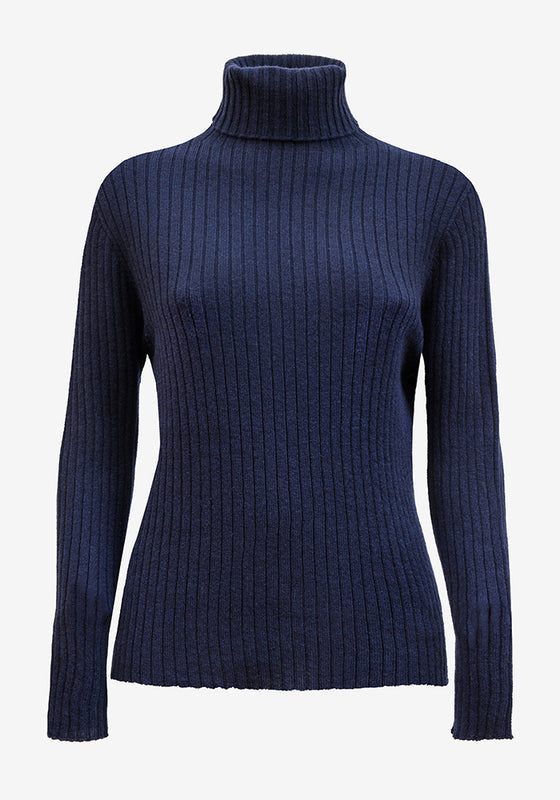 Cashmere Turtleneck in Blue - AVAVAV-Firenze