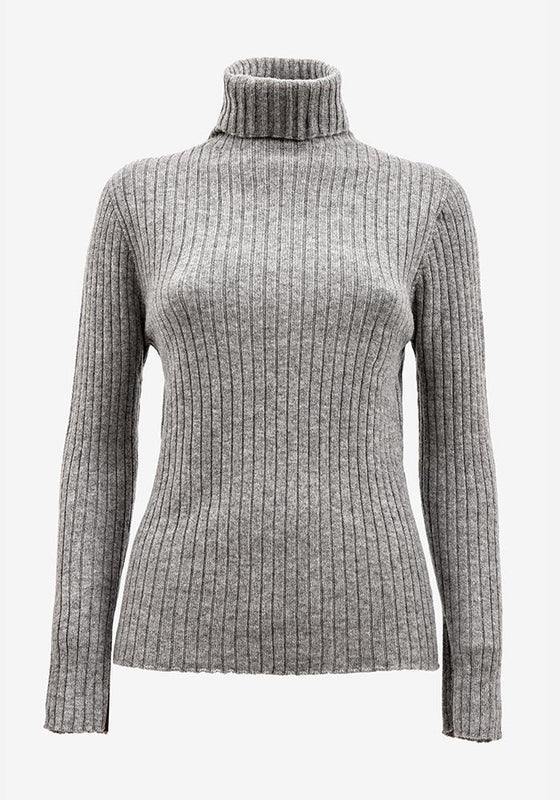 Cashmere Turtleneck in Grey - AVAVAV-Firenze