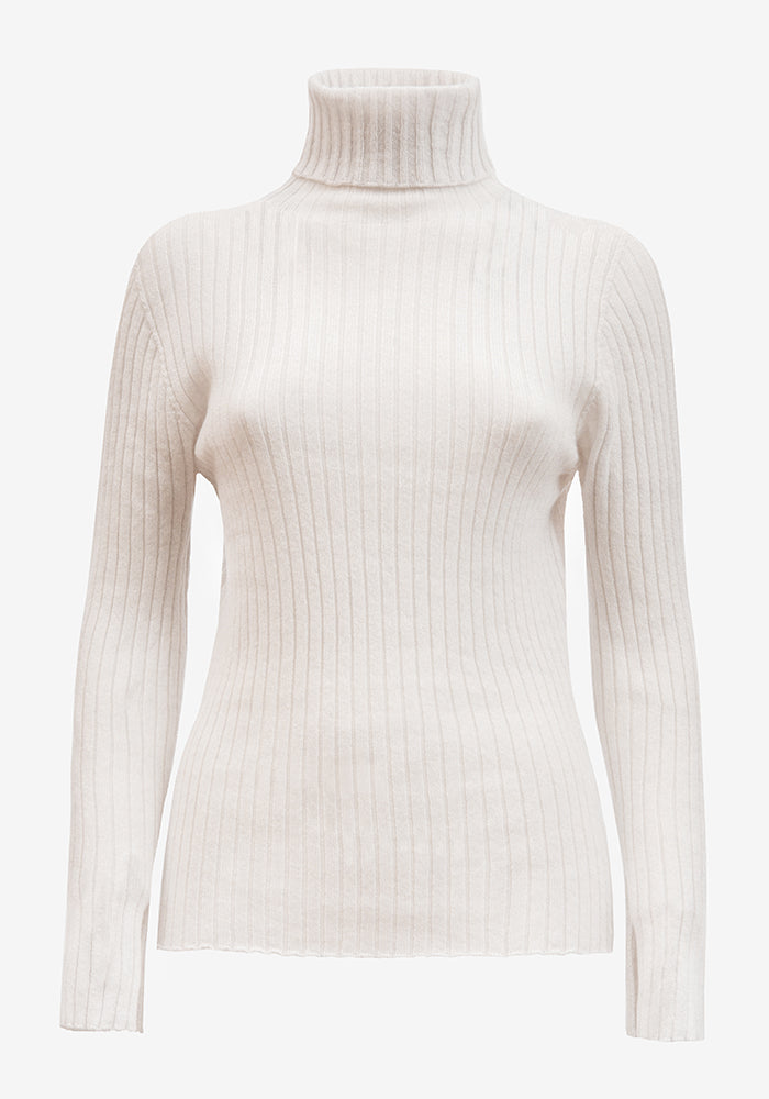 Cashmere Turtleneck in Off white - AVAVAV-Firenze