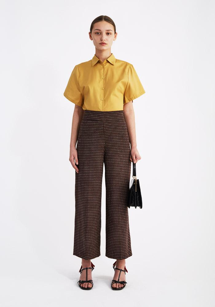 Cropped Jacquard Pants