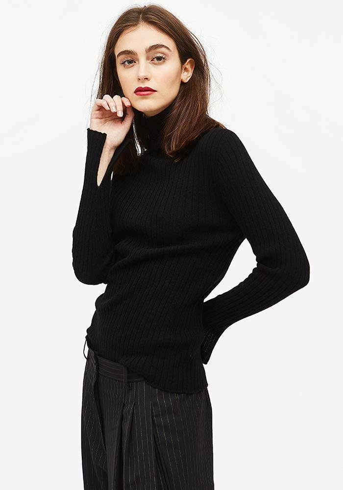 Cashmere Turtleneck in Black - AVAVAV-Firenze