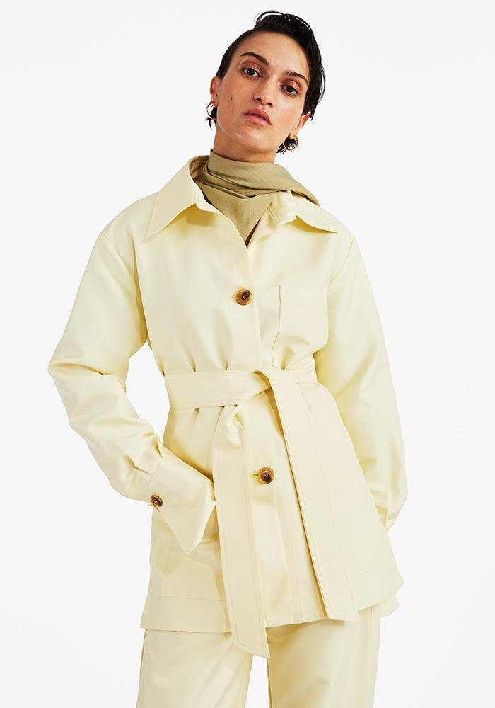 High Cuff Jacket Light Yellow