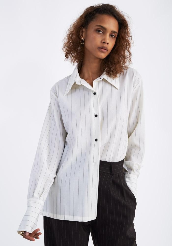 Pinstripe high cuff shirt - AVAVAV-Firenze