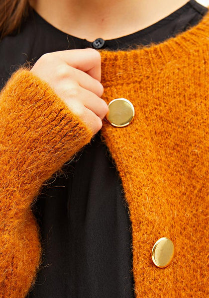 Knitted Cardigan Brown - AVAVAV-Firenze (1688602935365)