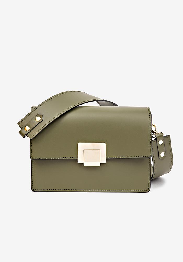 Leather Shoulder Bag Green