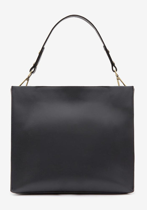Leather Suede Bag Black - AVAVAV-Firenze