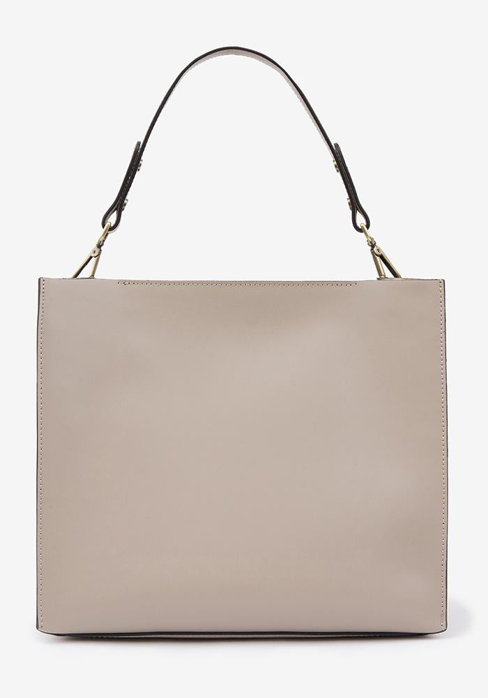 Leather Suede Bag Taupe - AVAVAV-Firenze
