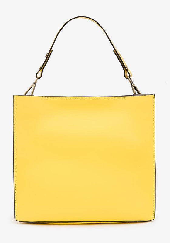 Leather Suede Bag Yellow - AVAVAV-Firenze