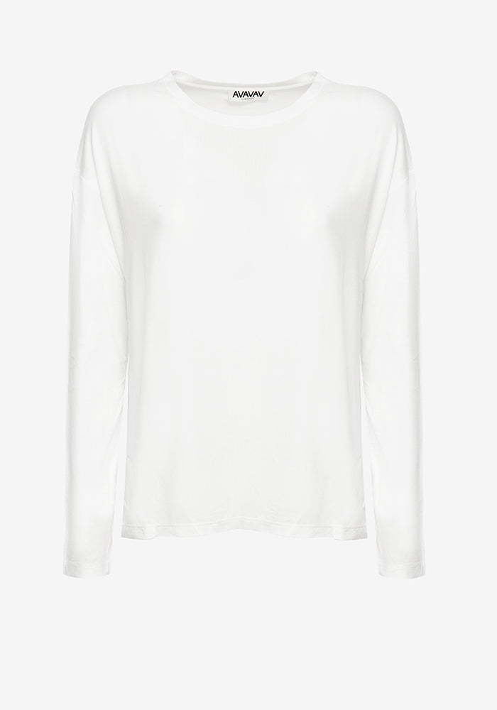 Long Sleeve Tee in Off-white