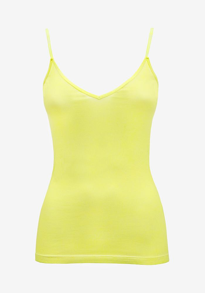 Ribbed Singlet Neon Yellow - AVAVAV-Firenze