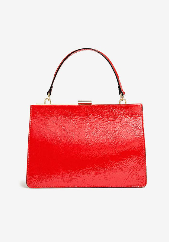 Sharp Leather Bag, Red