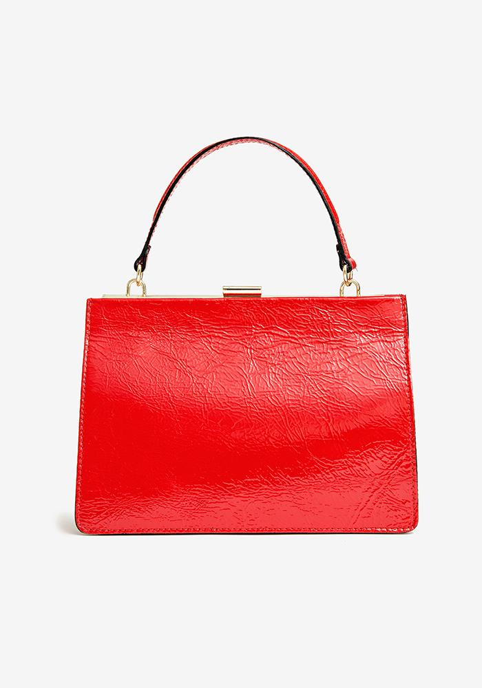 Sharp Leather Bag red