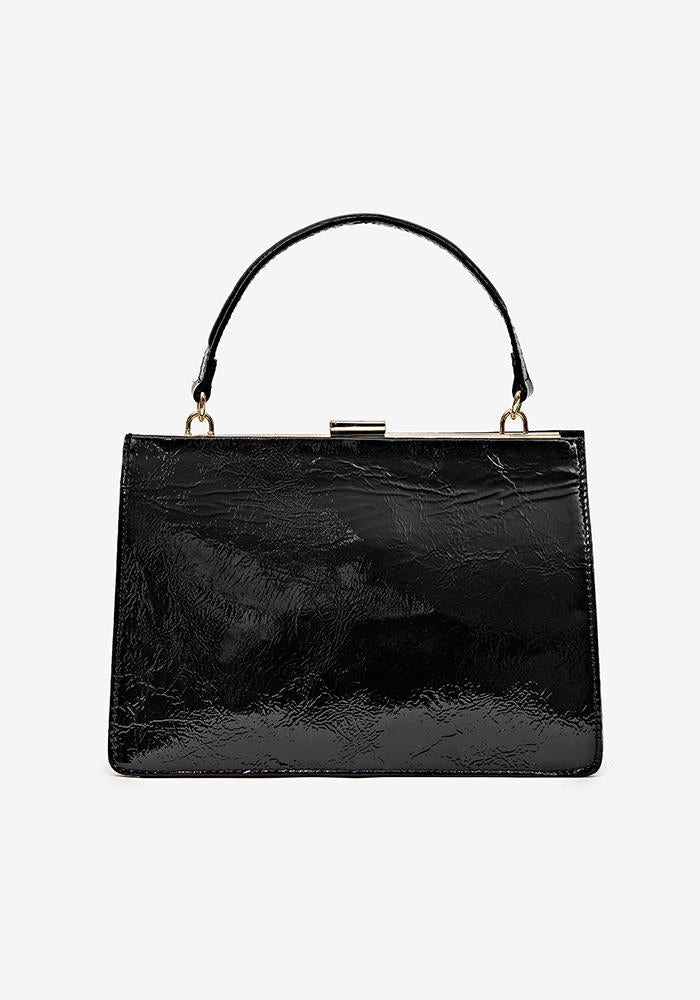 Sharp Leather Bag black