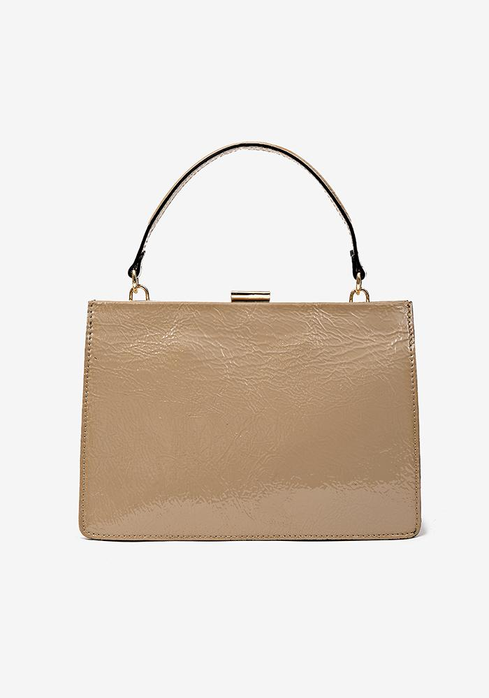 Sharp Leather Bag taupe