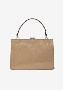 Sharp Leather Bag, Taupe
